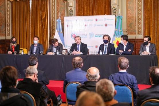 El Presidente encabezó la puesta en marcha de obras para 40 municipios bonaerenses