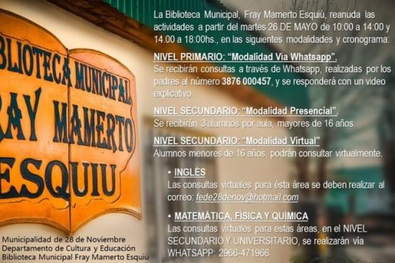 """Municipio anunció el retorno clases presenciales con """"tres alumnos por aula"""""""