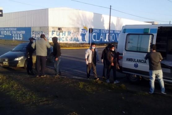 Ambulancia en el lugar (Foto: C.Robledo).