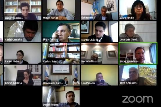 La sesión de ayer se volvió a realizar de forma virtual.