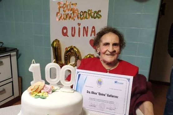 Quina, la primera calafateña en cumplir 100 años de vida