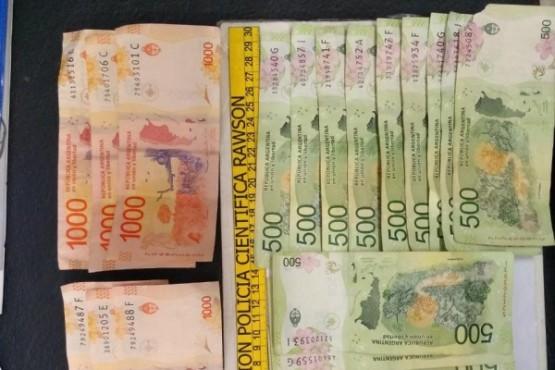 El dinero incautado.
