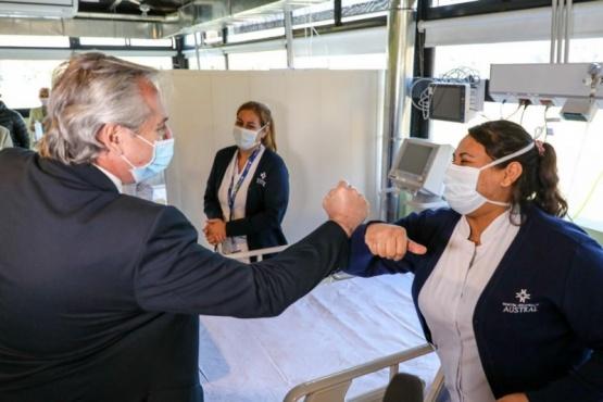 El Presidente encabezó la puesta en marcha del Hospital Solidario COVID-19 Austral en Pilar