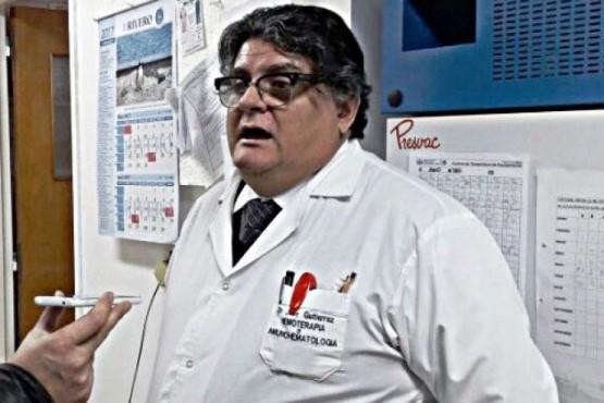 El Jefe del Área de Hemoterapia del Hospital Regional Río Gallegos, José Gutiérrez.