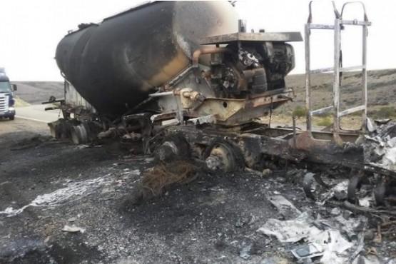 Camión chileno se prendió fuego en territorio santacruceño