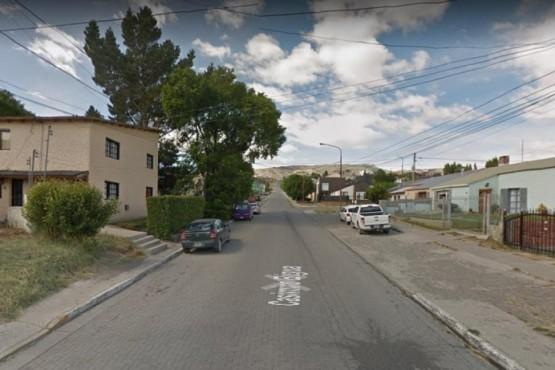 Calle Bigua, donde ocurrió el hecho