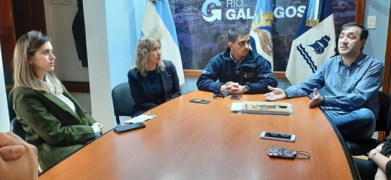 Reunión con el intendente Grasso.