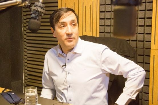 Grasso en Tiempo FM. (C.G)