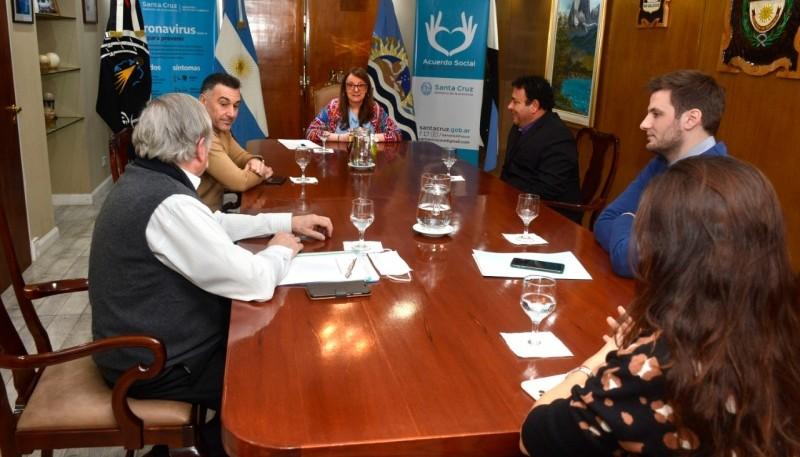 Alicia se reunió con el intendente de El Chalten