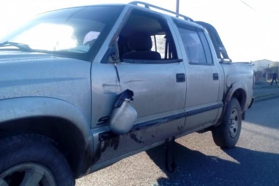 La camioneta involucrada en le siniestro vial (Foto: C.Robledo).