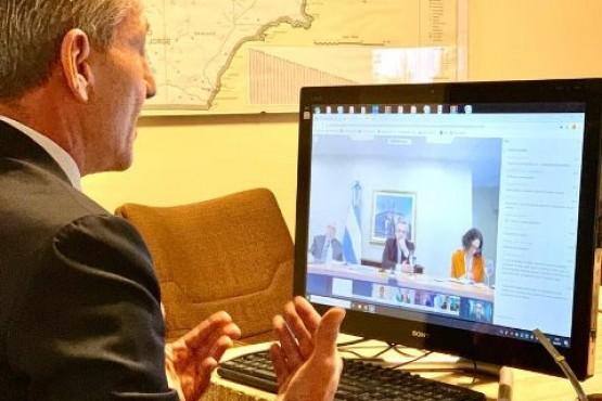 Arcioni participó de una nueva videoconferencia con Alberto Fernández