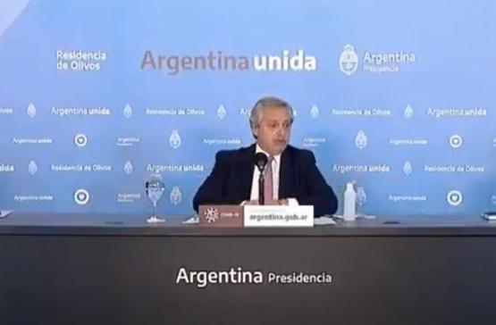 Conferencia de Alberto Fernández.