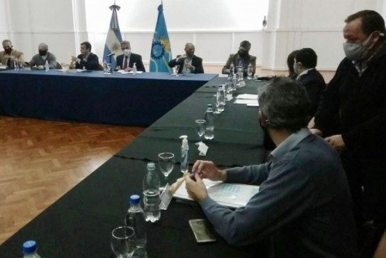 Arcioni encabezó una nueva reunión de gabinete ampliada