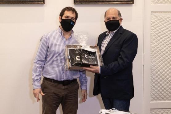 En la víspera del Día del Periodista el intendente recibió a referentes