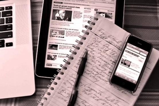 Materiales del periodista
