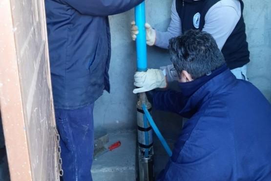 Servicios Públicos de la Provincia realizó trabajos de reparación en el sistema de agua de Gastre