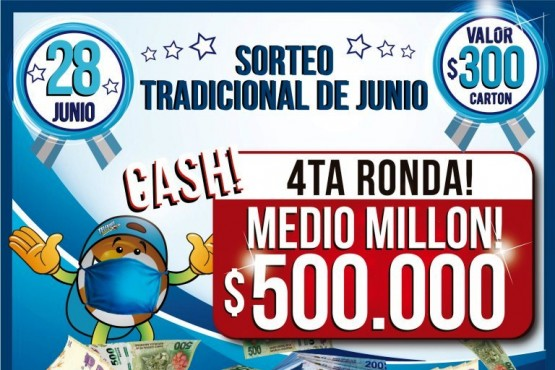 En junio el Telebingo sortea 800.000 pesos en efectivo y una camioneta