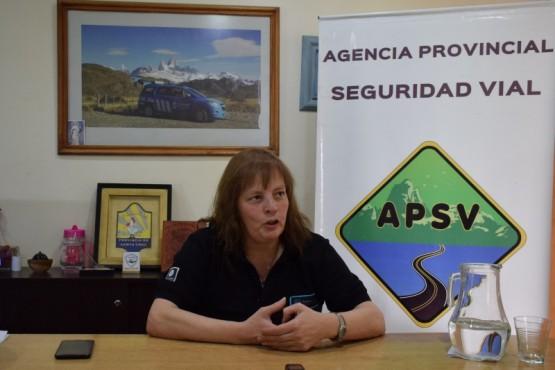 La Subsecretaria de la Agencia Provincial de Seguridad Vial, María Sanz