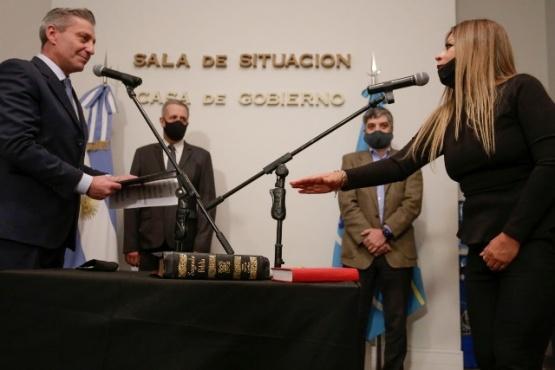 Arcioni tomó juramento a Gelvez.