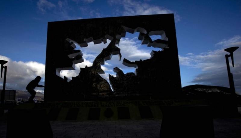 Monumento a los caídos en Malvinas.