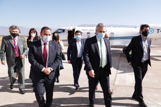 El presidente Alberto Fernández arribó a la provincia de La Rioja
