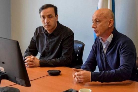 El intendente Pablo Grasso y Fernando Cotillo.