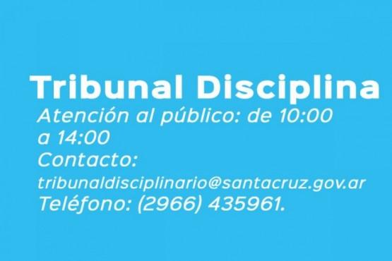 El Honorable Tribunal Disciplinario atenderá al público en nuevo horario