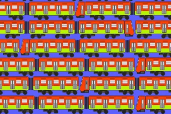 Reto viral: Encontrar al tren sin ventana y con una rueda rota