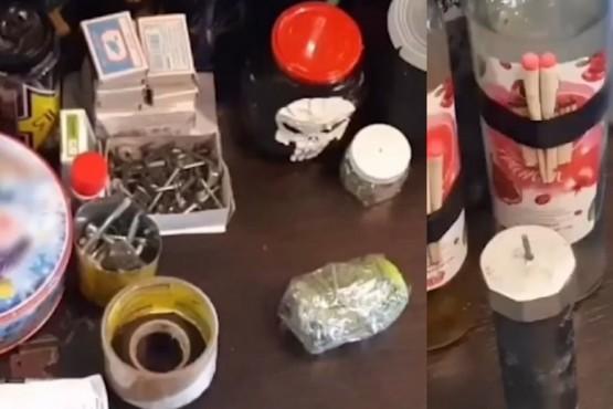 Confiscaron bombas molotov y gran cantidad de armas blancas a un adolescente de 14 años