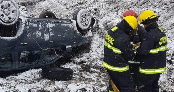 La nieve y la escarcha generaron un nuevo accidente