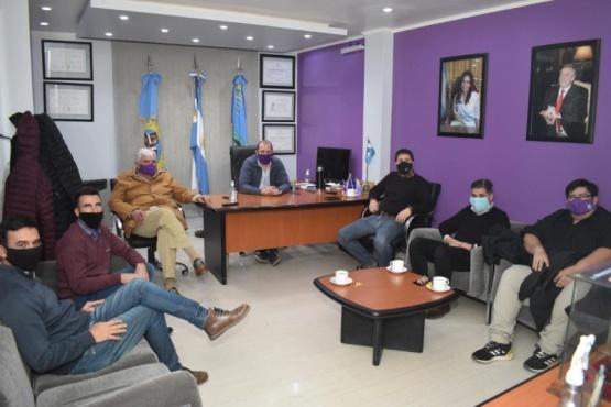 Recorrieron obras y abordaron Ley de Coparticipación en Piedra Buena