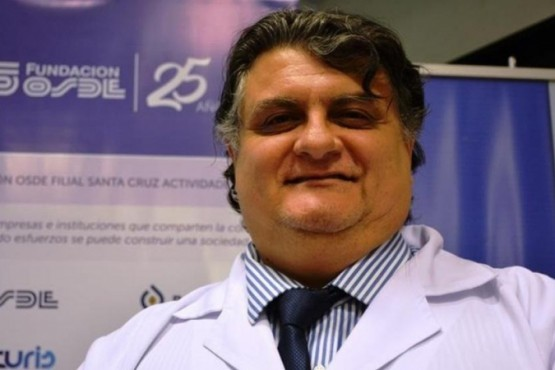 Doctor José Gutiérrez, jefe del Servicio de Hemoterapia del Hospital Regional de Río Gallegos.