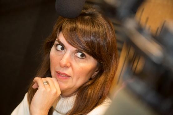 Silvina Córdoba en Tiempo FM. (C.G)