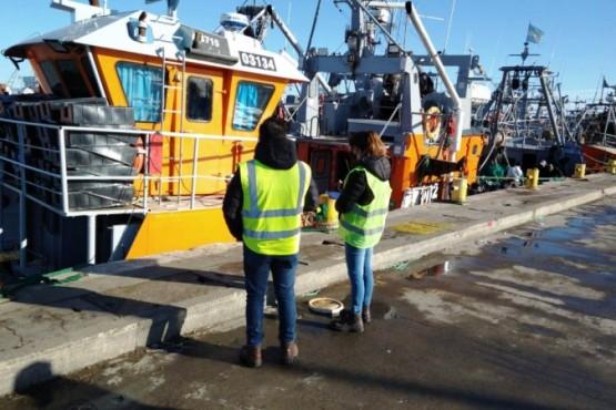 Personal municipal corrobora el cumplimiento de las inspecciones de los buques, previo a su salida del puerto