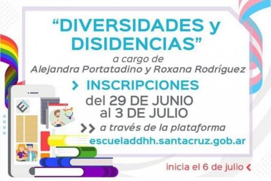 """Convocan a participar del Curso Virtual """"Diversidad y Disidencias"""""""