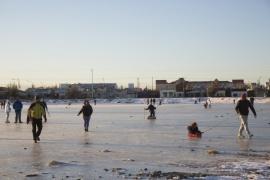 Municipio insiste y pide a los vecinos no patinar en las lagunas