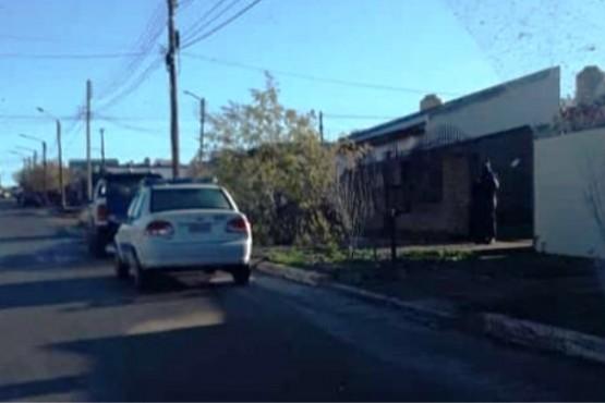 Vivienda allanada por la policía de Puerto Deseado.