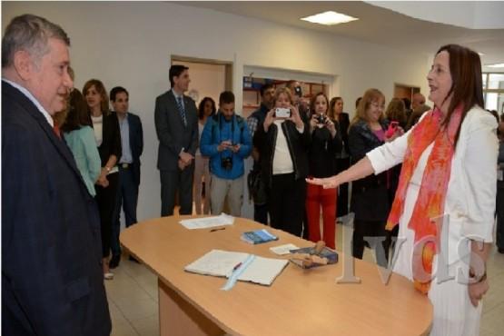 La Dra. Malena Karen Totino, jueza civil, asumió en 2016 su cargo. (Foto: La Vanguardia del Sur).