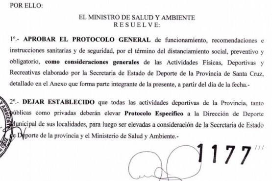 Este es el protocolo de retorno a la Actividad Deportiva en Santa Cruz