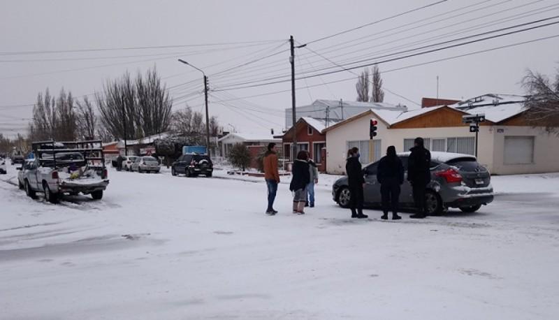 Los rodados tras el choque (Foto: C.Robledo).