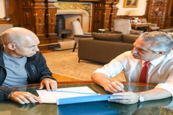 Alberto recibe a Rodríguez Larreta para analizar la cuarentena estricta