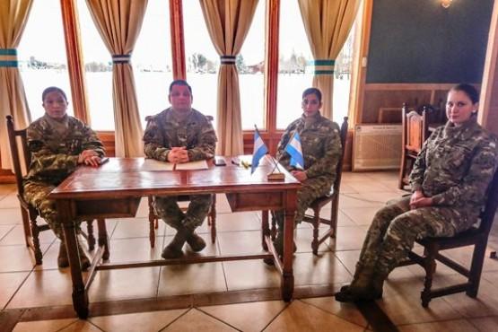 Teniente Coronel Rodríguez en el Salón 24 de Oficiales de la Guarnición