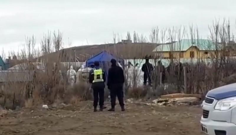Lugar donde fue hallado el cuerpo (Foto captura video Marcelo del Buono)