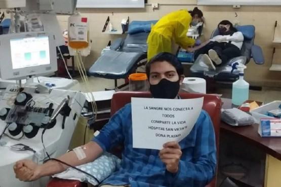 Los hijos del primer enfermero fallecido donaron plasma: