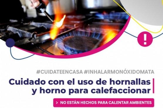Recomiendan no usar hornallas ni horno para calefaccionar los ambientes