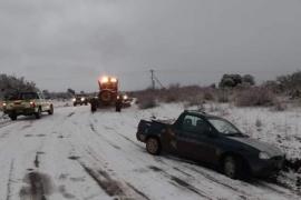 Cortan la Ruta 17 por hielo y nieve