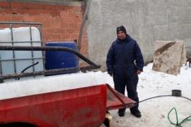 Los vecinos que ponen todo para ayudar en este crudo invierno de Río Gallegos
