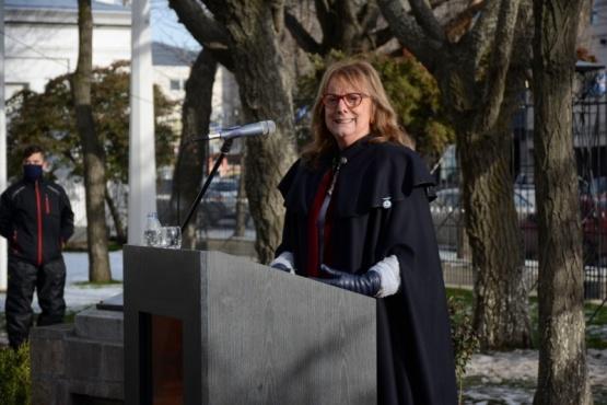 La gobernadora, Alicia Kirchner.