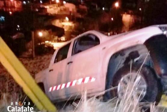Camioneta de SPSE casi desbarranca