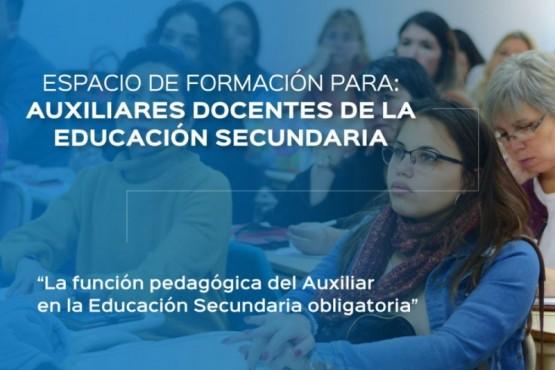 Comienza la capacitación para Auxiliares Docentes de Educación Secundaria